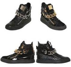 giuseppe zanotti chain sneakers