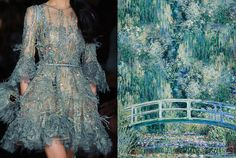 Match #272 Details at Elie Saab Haute Couture Spring 2015 | The Water-Lily Pond by Claude Monet, 1899 More matches here