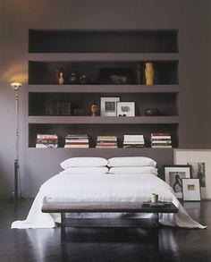 gray walls..