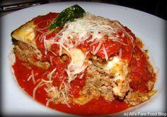 Tony's Lasagna - Layered with ground beef,sausage,mozzarella and ricotta - $17.99 Tonys Town Square Restaurant, Pasta, Magic Kingdom, Walt Disney World, Ricotta, Mozzarella, Ground Beef, Lasagna, Sausage