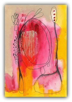 Contemporary Modern Art - an Original Abstract Painting on Artisan Paper, Bold Colors -Delude