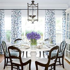 Hang a Lantern - Stylish Dining Room Decorating Ideas - Southern Living
