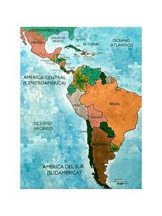 Spanish Language Map Puzzle of Central and South America (With Country Capitals) $17.99 (but you can get a big teacher discount if you ask)