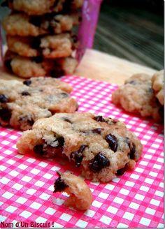 Cookies Chocolat Sans Gluten Sans Lait Sans Oeufs - Nom d'Un Biscuit ! #glutenfree #dairyfree #eggfree