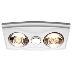 Heller White LED 3 In 1 Bathroom Heater. Bathroom HeaterBathroom Heat  LampBathroom ...