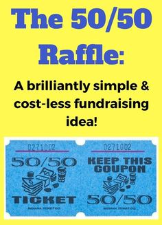 The Raffle Fundraiser. A super simple and effective fundraising idea. Check it out: www. 50 50 Raffle, Raffle Tickets, Nonprofit Fundraising, Fundraising Events, School Fundraising Ideas, Team Fundraising Ideas, Cheer Fundraiser Ideas, Fundraiser Baskets, Fundraiser Event
