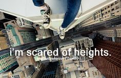 im okay with roller coasters and stuff but when im unstable, or there's nothing secureing me i. freak. out.