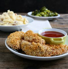 Chicken Strips with Polynesian Dipping Sauce.  Said to taste similar to the Chick-Fil-A dipping sauce.