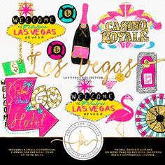 Las Vegas casino clip art / digital images / Clipart Vegas Night ...