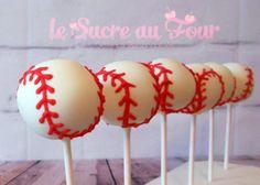 Baseball cake pops-Le sucre au four