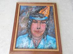 JUST COMPLETED ORIGINAL BRAVE WARRIOR INDIAN ACRYLIC PAINTING DIRECT FROM TEXAS ARTIST.  FOR DETAILS & PURCHASE INFORMATION VISIT MY GALERY OF ART @ ETSY AT UINMIND. GO TO ETSY WHERE IT SAYS HAND MADE HIT THE ARROW BOX, HIT PEOPLE AND PUT IN MY LOGO: UINMIND THEN HIT RETURN.
