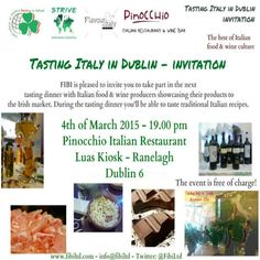 """""""Tasting Italy in Dublin"""" - great event with Italian food & drinks - just for the Irish wine importers & buyers !"""