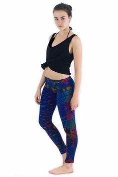 Dark Blue Mix $24.00 Tie Dye Leggings, Dark Blue, Fabric, Cotton, Pants, Collection, Women, Fashion, Tejido