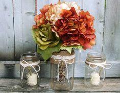 mariage automnal champêtre chic- idées de décoration avec bocaux, cordes et clés