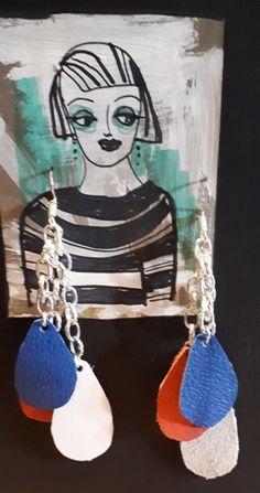 Handmade Jewellery, Display Ideas, Pendant Necklace, Drop Earrings, Pearls, Silver, Leather, Jewelry, Handmade Jewelry