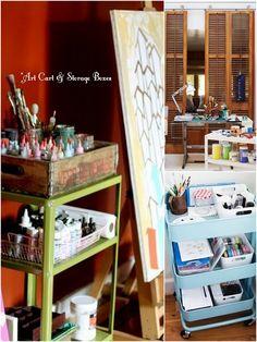 'Organizing the Art Studio...!' (via livesimplybyannie.com)