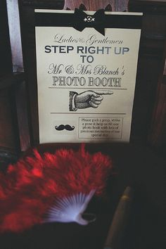 An Antique Hollywood Glamour Wedding photobooth signage via whimsical wonderland weddings