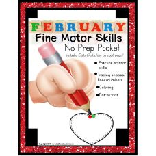This 33 page fine motor skills worksheet packet continues from our January packet! With a February theme throughout the fine motor skills packet, your students will trace shapes, lines, and numbers; color within given boundaries, cut along visually bold lines, count objects, dot-to-dot, and following directions. - See more at: http://autismeducators.com/fine-motor-no-prep-packet-for-february-special-education#sthash.iaCyTm1v.dpuf