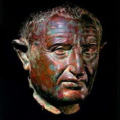 Roman Bronze Portrait of Emperor Vespasian - X.0147          Origin: Mediterranean          Circa: 69 AD to 79 AD