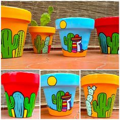 Learn how to make a very creative painting in handmade vases in your home, and . - Learn how to make a very creative painting in handmade vases in your home, and with that create bea - Flower Pot Art, Flower Pot Design, Flower Pot Crafts, Clay Pot Crafts, Diy Crafts, Painted Plant Pots, Painted Flower Pots, Painted Pebbles, Pots D'argile