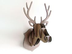 €18,15 Cardboard flatpack Stags Head Wall Hanging door OhBotherDesign