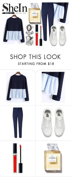 """Navy Blue"" by ukelouiza ❤ liked on Polyvore featuring Hobbs, Vans and Christian Dior"