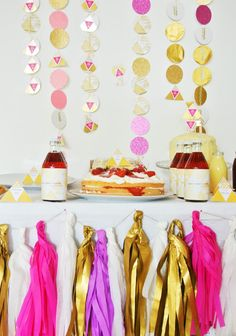 Gold glitter and pink 30th birthday party decoration by bloom in may