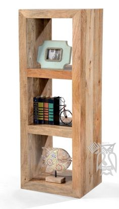 Solid Mango Three Section Bookcase