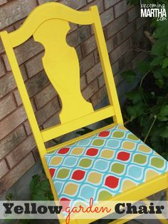 The Yellow Garden Chair That Had the Whole Neighbourhood Talking :: Hometalk
