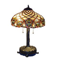 @Overstock - This unique Baroque Table Lamp has been handcrafted using methods first developed by Louis Comfort Tiffany.Shade contains pieces of stained glass, each hand-cut and wrapped in fine copper ...http://www.overstock.com/Home-Garden/Tiffany-style-Baroque-Table-Lamp/1497819/product.html?CID=214117 $89.99