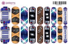Jamberry Star Wars nail wraps....want these ? Email me at cander1985@hotmail.com and put Star Wars in the subject. To see our other wraps go to candyj.jamberrynails.net