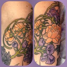 31 Gorgeous Tattoos Inspired By Famous Artists - Mucha tattoo. So gorgeous!!