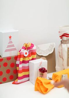 Beautiful gift wrapping with Megan Morton.