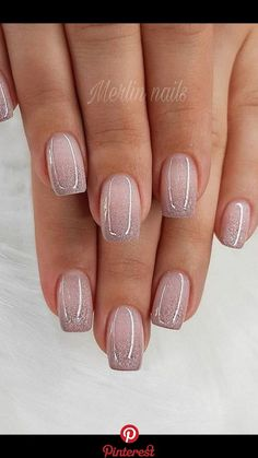 Glitter Gel Nail Designs For Short Nails For Spring 2019 - Gel Nails Short - Stylish Nails, Trendy Nails, Cute Nails, My Nails, Neon Nails, Perfect Nails, Gorgeous Nails, Nail Art Mignon, Bridal Nail Art