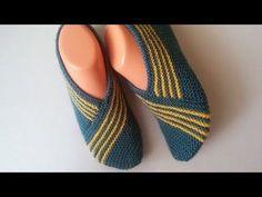 Very easy striped booties model making / booties models with two skewers / Knitting … – socks women Knitting Socks, Knitting Stitches, Knitting Patterns, Easy Knitting, Striped Boots, Lace Boot Socks, Knitted Slippers, Slipper Boots, Skewers