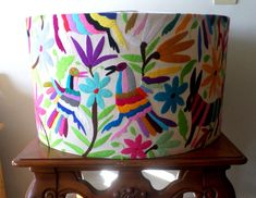 Otomi Pendant white or multicolor. Otomi Chandelier. Otomi ceiling lamp. Lampshade. Unique chandeliers and pendant lamps. - pinned by pin4etsy.com