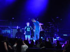 Brian Littrell from Backstreet Boys with his son Baylee (05/22/14) IAWLT Tour - Seattle
