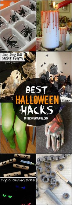 Halloween Hacks and DIY Decor Ideas at the36thavenue.com ...Pinning for later! Love these! Perfect for party, crafts or home!