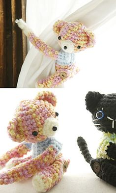 Amigurumi Curtain Tie pattern by Pierrot (Gosyo Co., Ltd)
