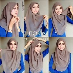 My Sweet Escape: Beautiful Chest Covering Hijab Tutorial Square Hijab Tutorial, Simple Hijab Tutorial, Pashmina Hijab Tutorial, Hijab Style Tutorial, Mode Turban, Turban Hijab, Hijab Dress, Hijab Outfit, Hijab Mode Inspiration