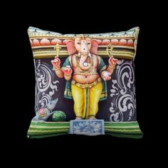 Ganesha Indian God Statue Pillow © Bluedarkat - on Zazzle!