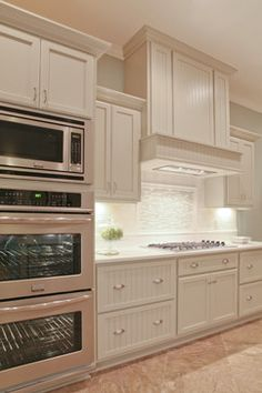Kitchen Layout with Double Ovens | 33,908 Stacking Wall Ovens Home Design Photos