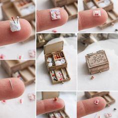 **SALE** Dollhouse MINIATURE size Victorian Ice Cream Powder Box 1900/'s