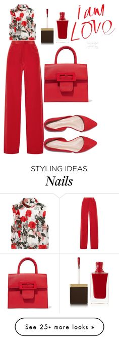 """""""Untitled #423"""" by chrylpeterman on Polyvore featuring Ganni, Juan Carlos Obando, Maison Margiela and Tom Ford"""