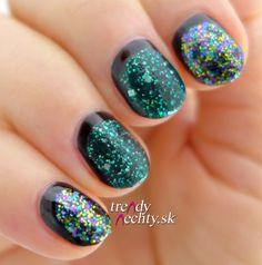 Glitter manicure, Nail Art, Nail design