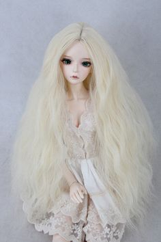 New 22-24CM Smoke grey+pink Mixed color Short hair For 1//3 LUTS SD BJD Doll Wig