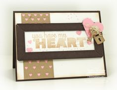Bold Statements; Hearts and Stitches; Lovey-Dovey Sentiments; Fluttering Hearts Die-namics; Chalkboard Frame Builder Die-namics; Keys and Locks Die-namics - Debbie Carriere