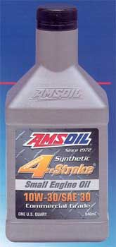 Amsoil Synthetic 10w-30/SAE 30 4-stroke small engine oil. Protection for your generator on your RV.  www.galeforceperformance.com