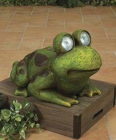 Look what I found on #zulily! Garden Frog Light-Up Figurine #zulilyfinds
