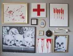 Easy Halloween Gallery Wall